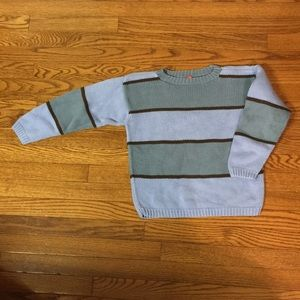 Hanna Anderson blue striped sweater size 130